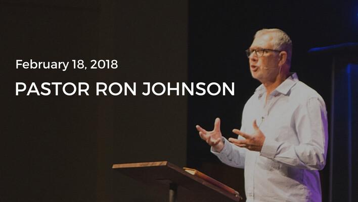 Guest Speaker: Pastor Ron Johnson